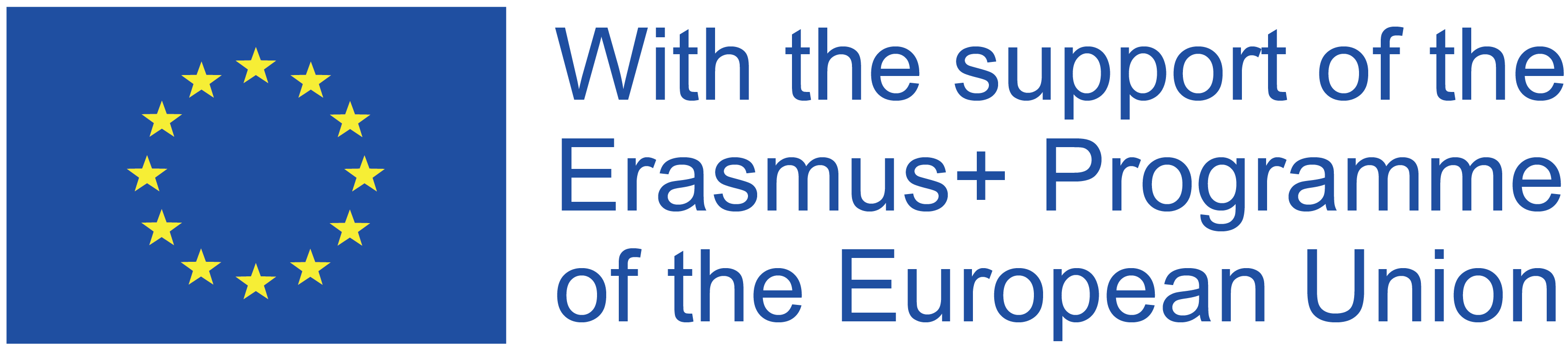 Logo Erasmus+ with the support